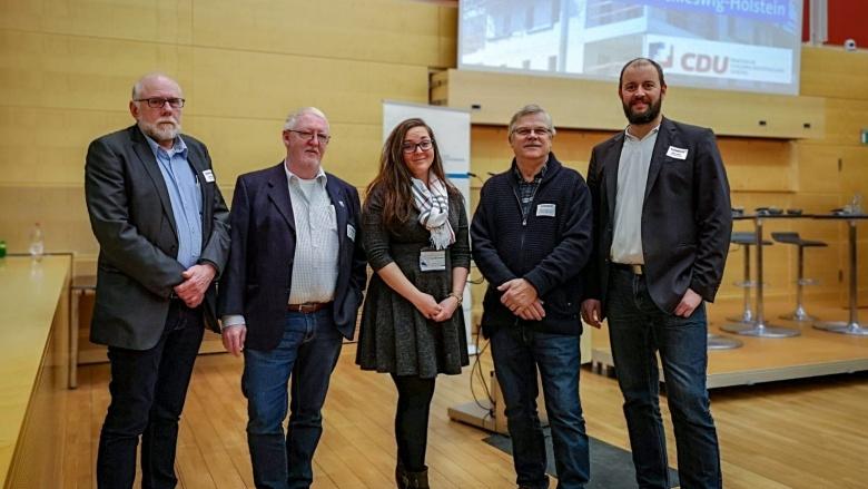 Gerd Panitzki, Peer Hansen, Tine Möhlmann, Günter Möhlmann und Sven Engler